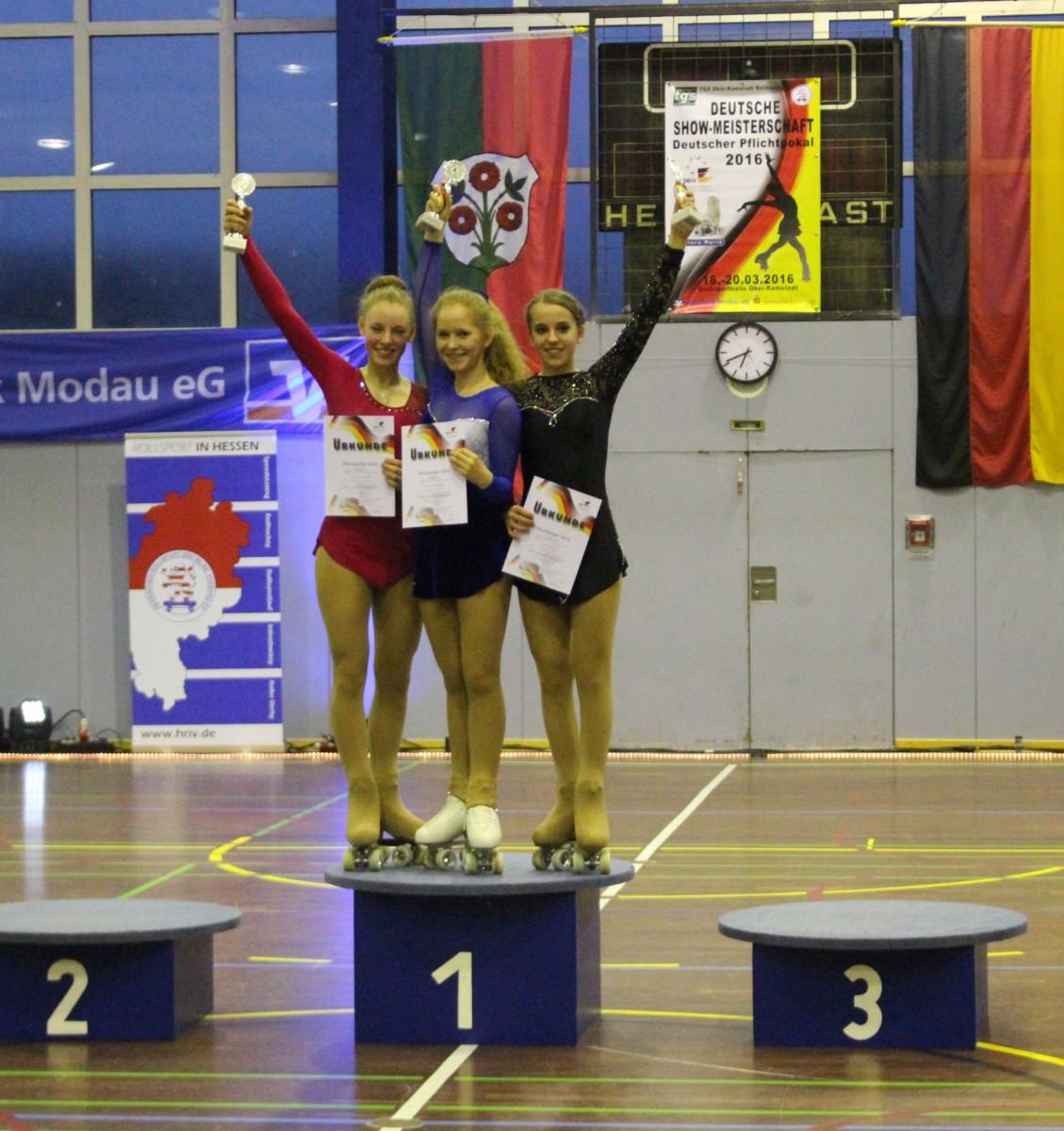 Deutscher Pflichtpokal: 1x Gold und 2x Bronze