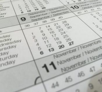 calendar dates paper schedule